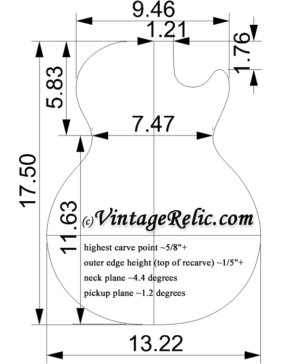 les paul top carving template - 1327 carved maple top sold vintage relicguitar relic