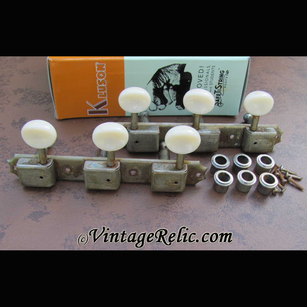 Kluson Tuners 1956 1964 3 Plate Aged Vintage Relicguitar Relic Gibson Wiring