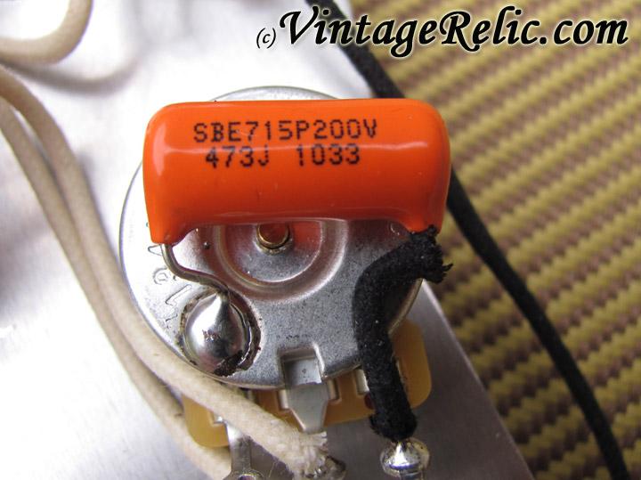 strat orange drop 715p 047uf vintage relicguitar relic ing aging aged guitar parts custom