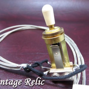 Pre-wired Switchcraft 3-Way Switch Gold