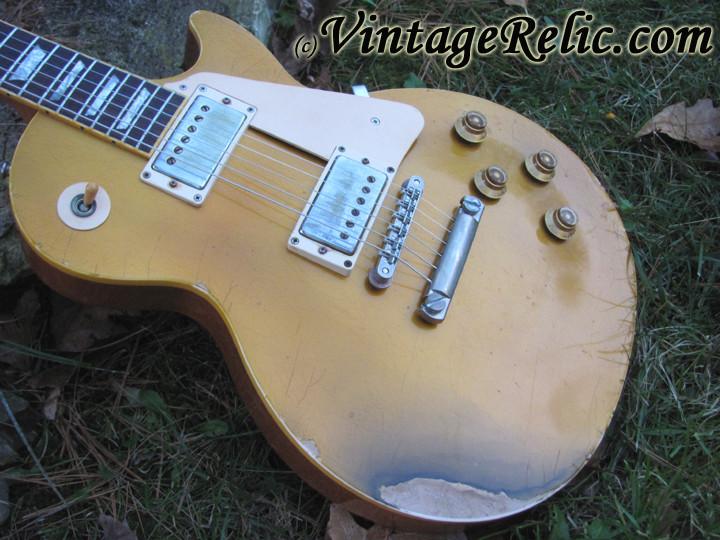 gibson les paul goldtop vintage relicguitar relic 39 ing aging aged guitar parts custom guitars. Black Bedroom Furniture Sets. Home Design Ideas