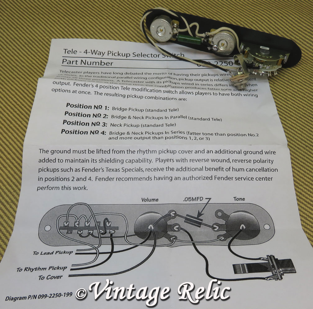 Tele 4 Way K40y 9 047uf Vintage Relicguitar Relicing Aging Switch Wiring Diagram