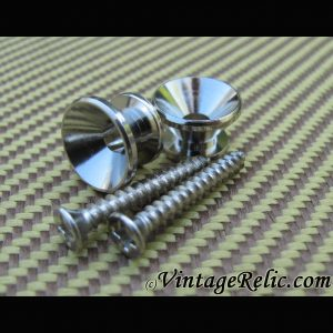 Strap Buttons / Screws (pair) for Fender [new]