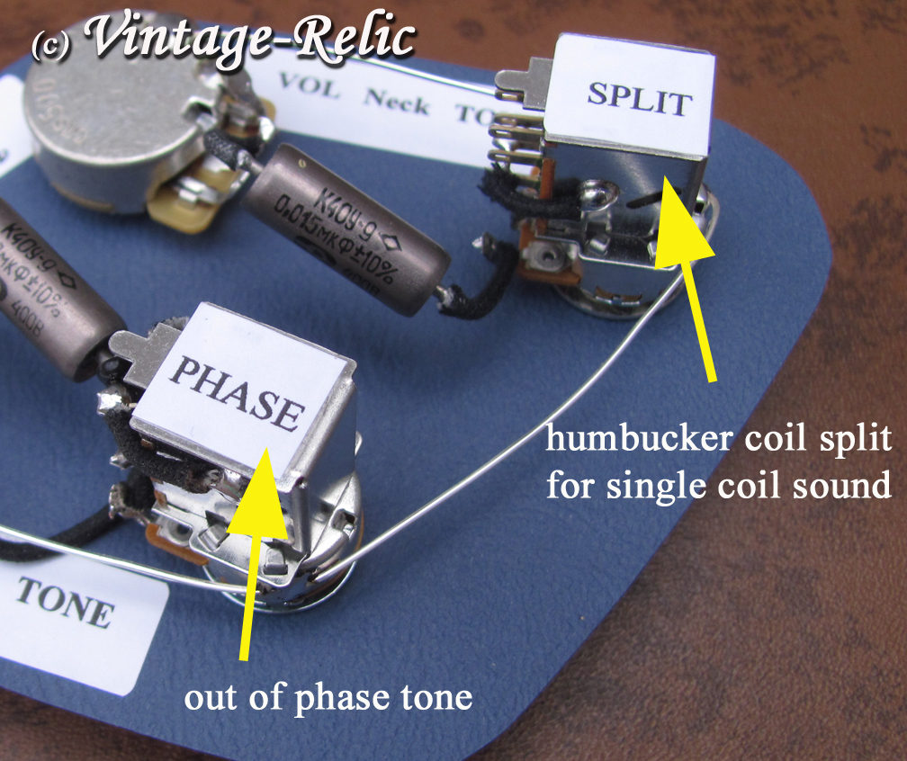 Pull Tones Diagram With Custom Version Of The Jimmy Page Les Paul